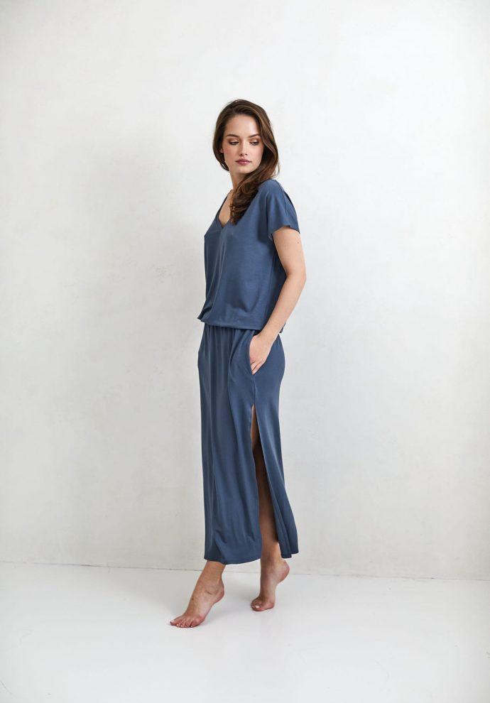Sukienka Patrizia długa denim - zdjęcie 3