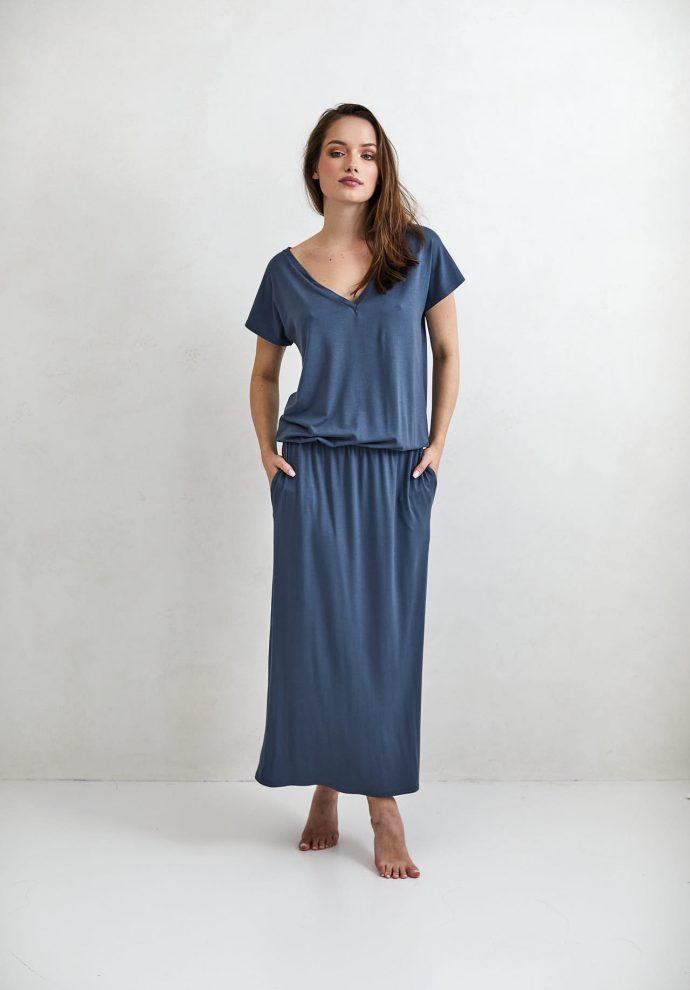 Sukienka Patrizia długa denim