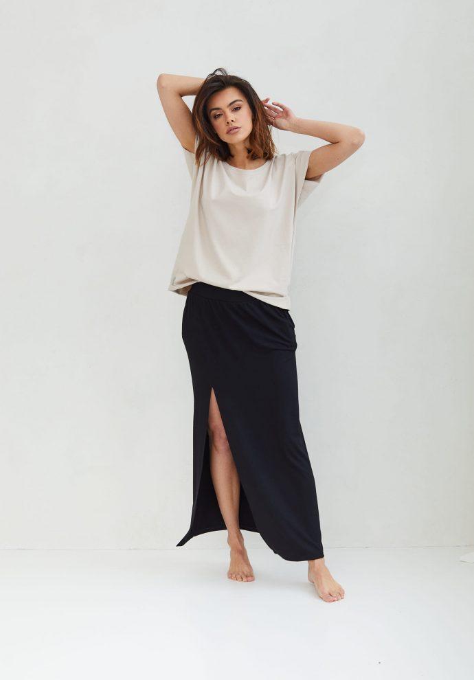 długa czarna spódnica Judi- zdjęcie 2