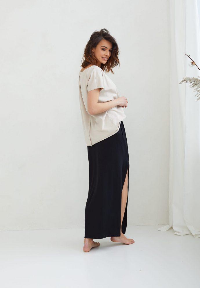 długa czarna spódnica Judi- zdjęcie 3