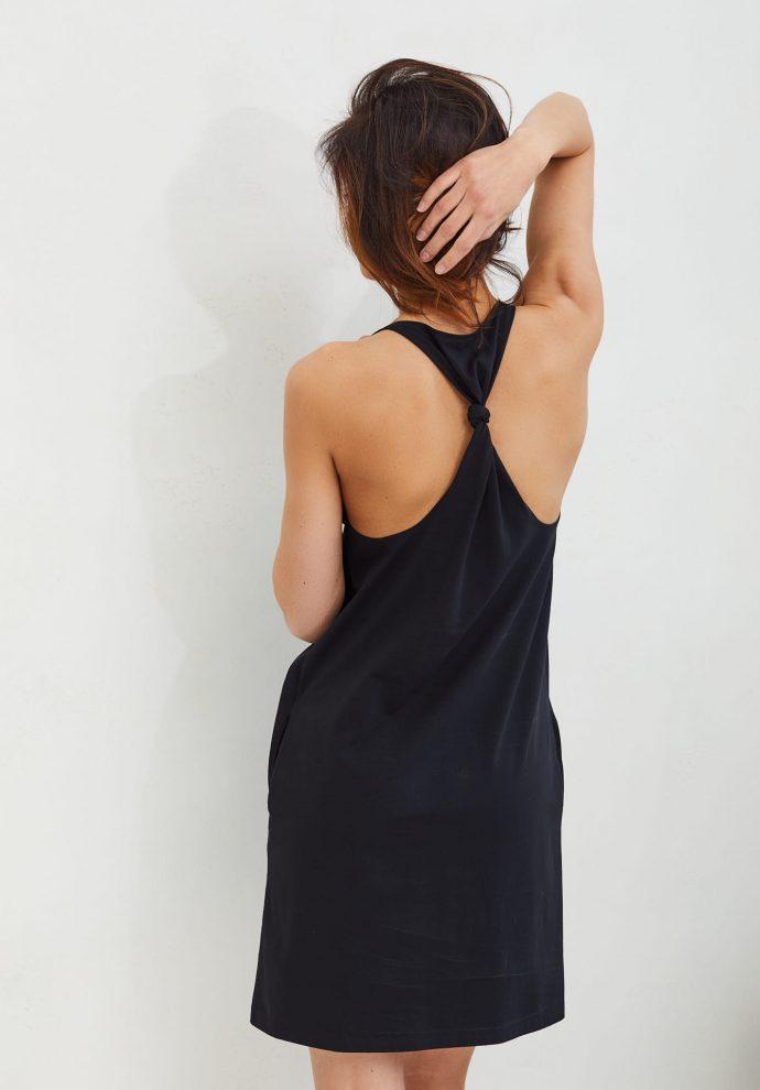 Sukienka Livia czarna- zdjęcie 3