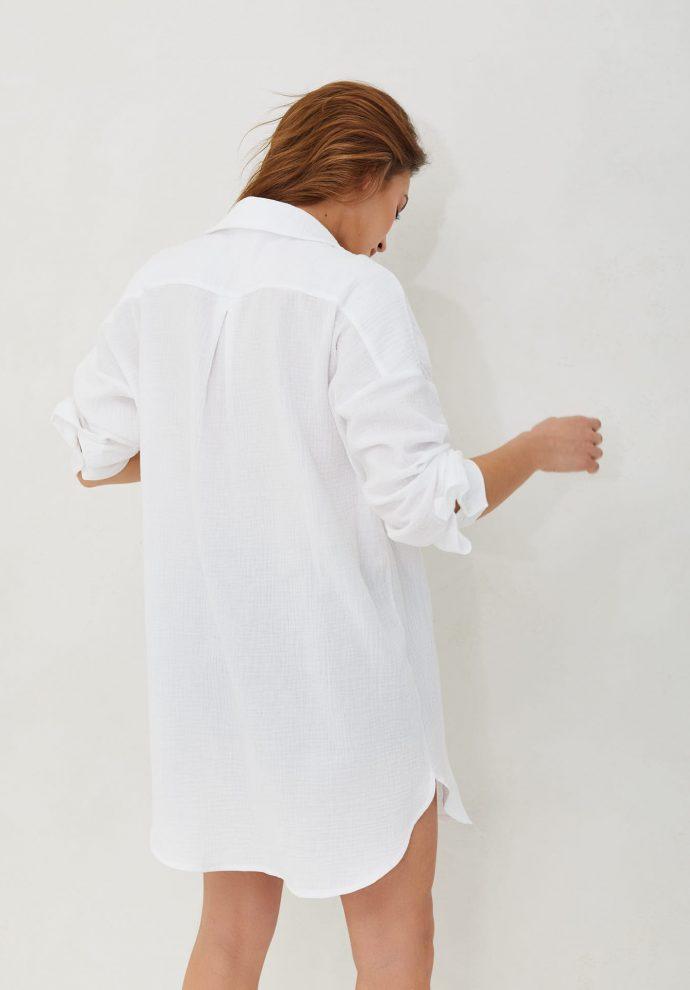 koszula muślinowa ecru Juliette- zdjęcie 4
