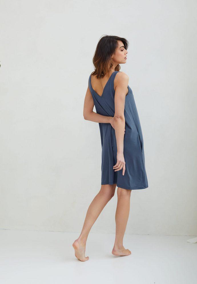 sukienka z wiskozy Lea denim- zdjęcie 2