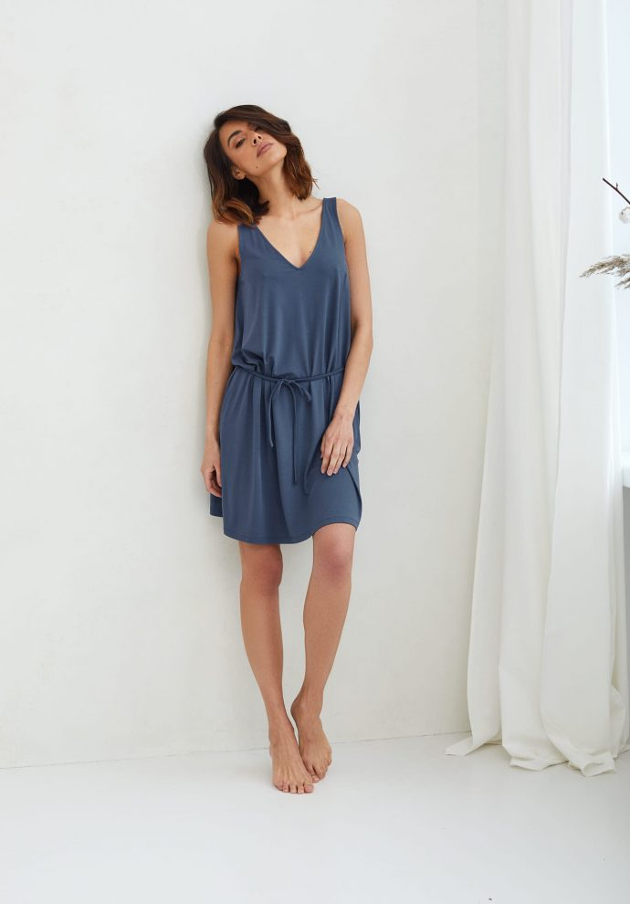 sukienka z wiskozy Lea denim- zdjęcie 3