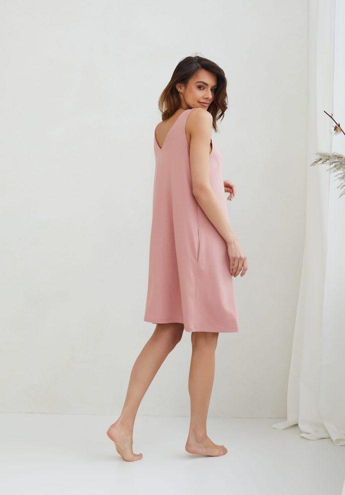 sukienka Lea zgaszony róz- zdjęcie 3
