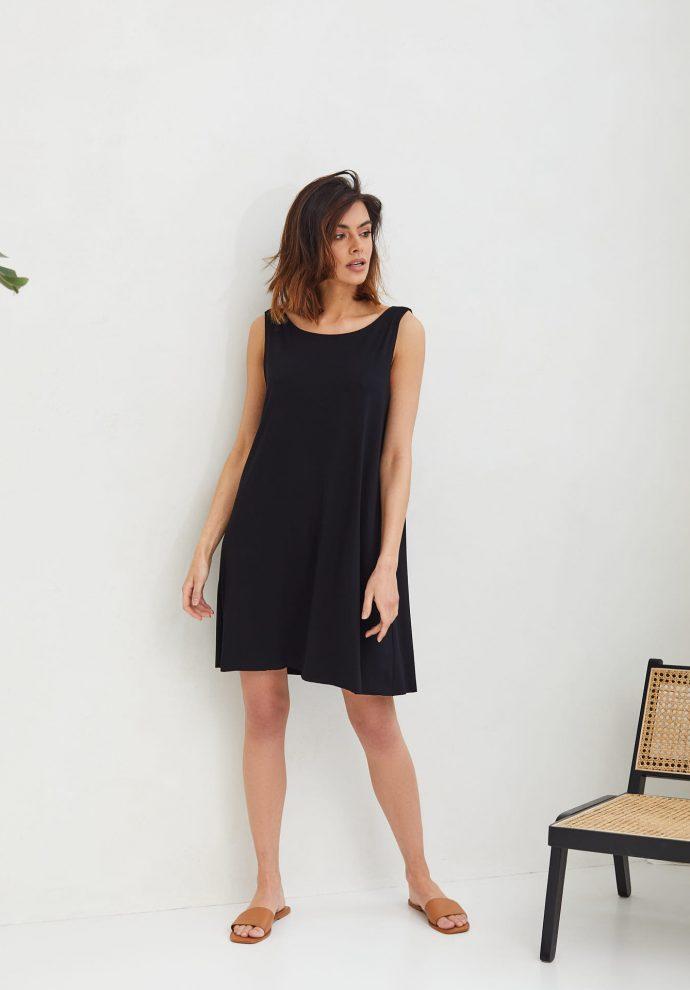 sukienka Chloe czarna- zdjęcie 2