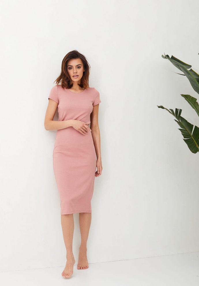 sukienka ze ściągacza Suzane rózowa