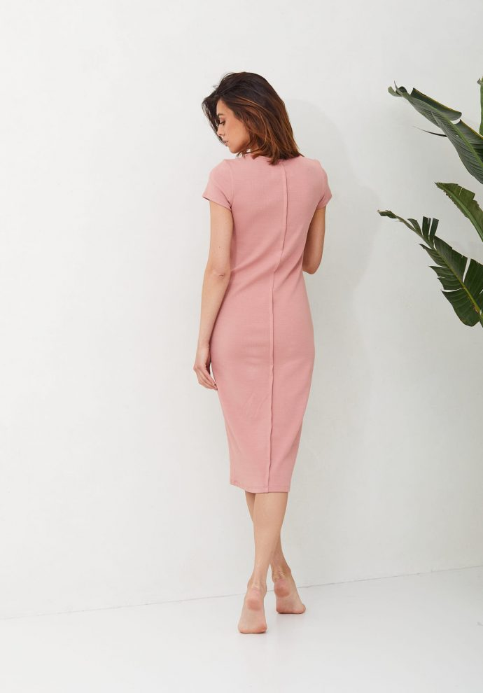 sukienka ze ściągacza Suzane rózowa- zdjęcie 2