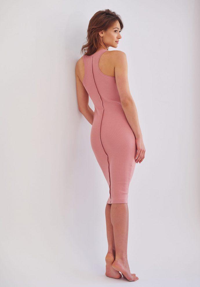 sukienka bokserka Suzane rózowa- zdjęcie 2