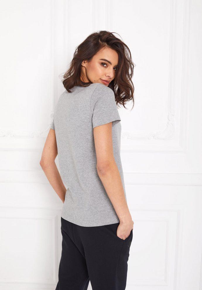 t-shirt z kieszonką Lucy szary- zdjęcie 2