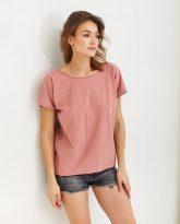 T-shirt różowy z dekoltem na plecach Molly-zdjecie 2