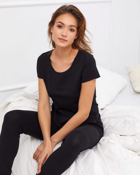 t-shirt do spania czarny Eris