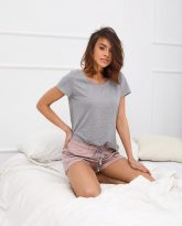 t-shirt do spania szary Eris - zdjęcie 2