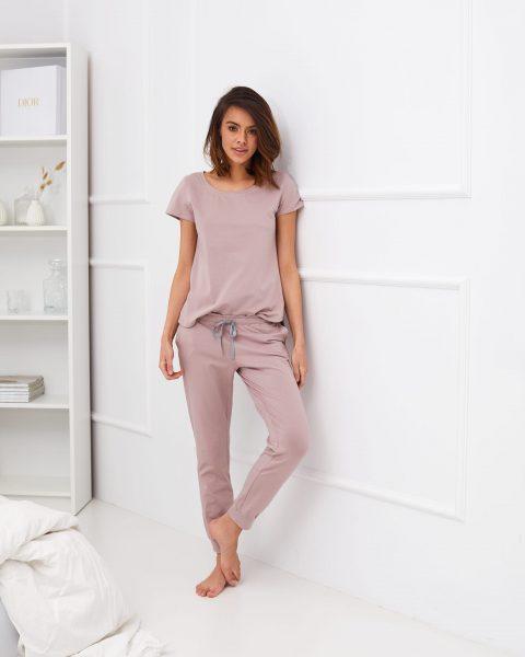 długie spodnie do spania Juno lila