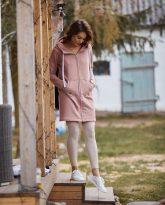 bluza długa na zamek Eva różowa- zdjęcie 4