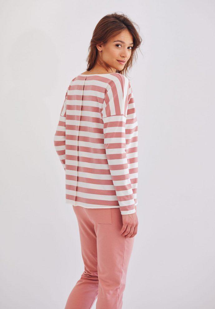 bluzka Emilly z długim rękawem w pasy- zdjęcie 3