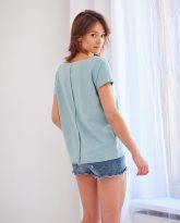 t-shirt Alice z dużym dekoltem miętowy- zdjęcie 2