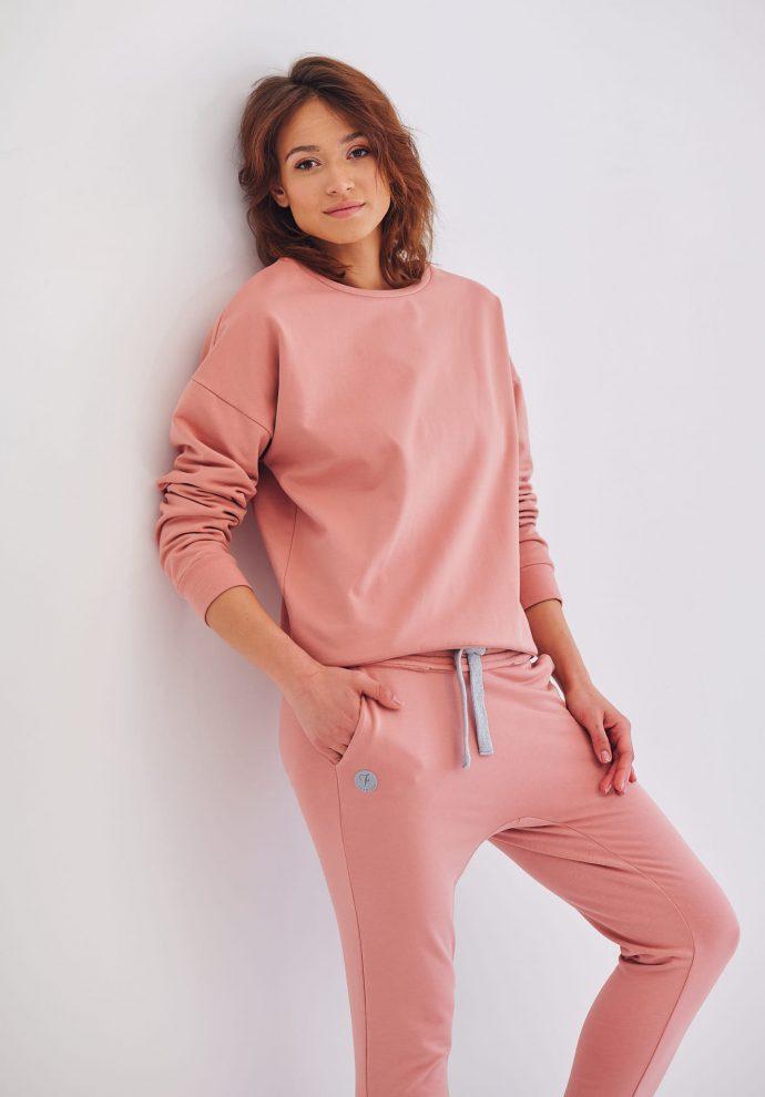 krótka bluza dresowa Ana rózowa- zdjęcie 2