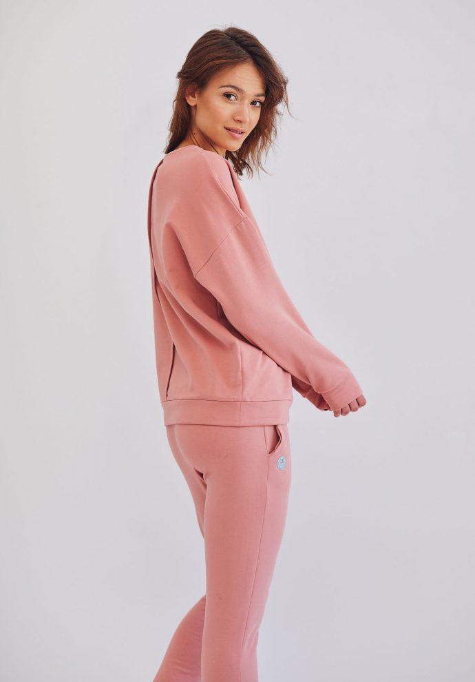 krótka bluza dresowa Ana rózowa- zdjęcie 3