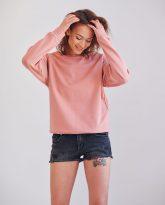krótka bluza dresowa Ana rózowa