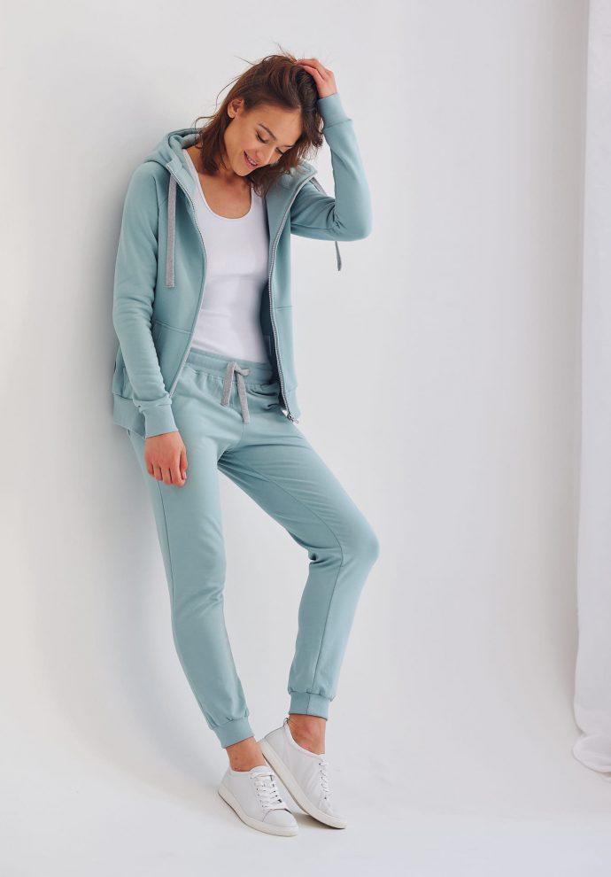 spodnie dresowe Joggers miętowe- zdjęcie 3
