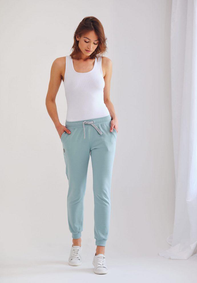 spodnie dresowe Joggers miętowe