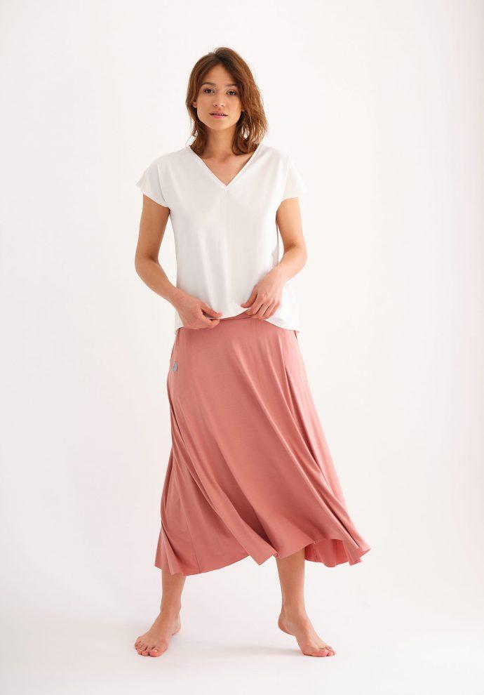 bluzka Noemi z dekoltem w serek ecru- zdjęcie 4