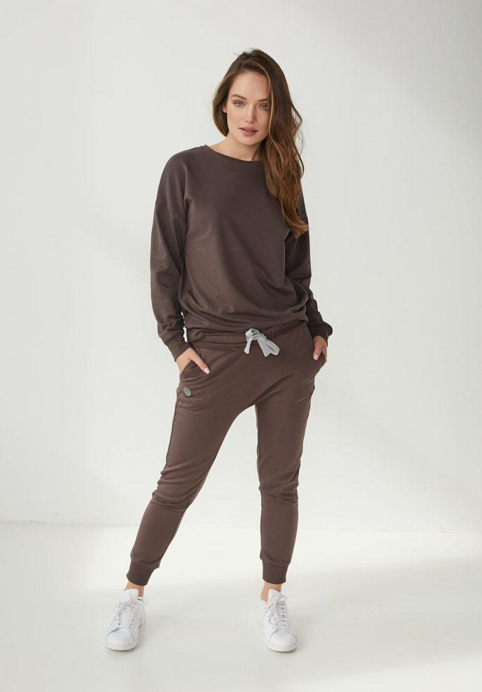 spodnie baggy czekoladowe