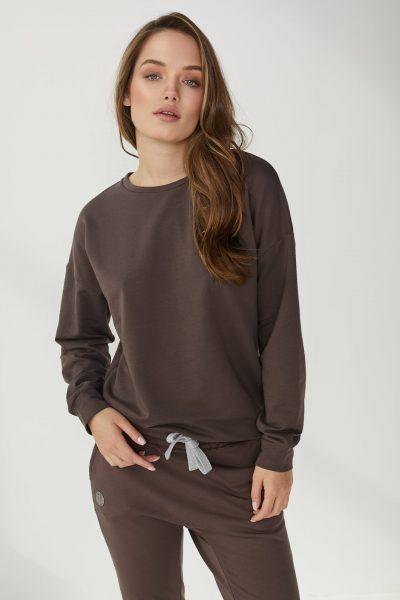 minimalistyczna bluza Ana czekoladowa