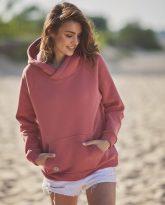 bluza z kapturem Rita koralowa