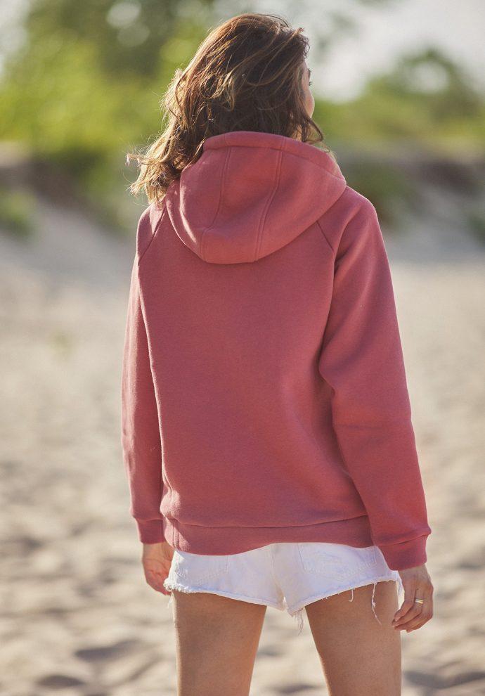 bluza z kapturem Rita koralowa- zdjęcie 2