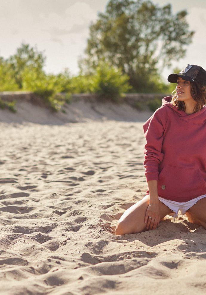 bluza z kapturem Rita koralowa- zdjęcie 3