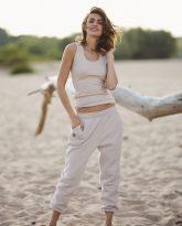 spodnie Lola piaskowe- zdjęcie 2