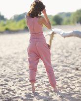 spodnie Lola zgaszony róż- zdjęcie 2