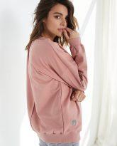 Bluza z dekoltem w serek Nelly różowa- zdjęcie 2