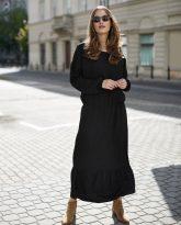 Sukienka z falbana Maggie czarna- zdjęcie 2