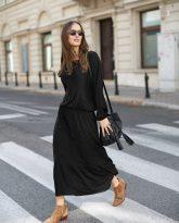 Sukienka z falbana Maggie czarna
