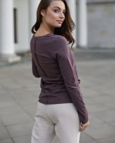 bluzka Emma czekoladowa- zdjęcie 2
