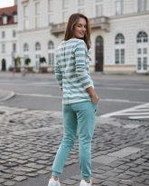 bluzka Emma pasy ecru miętowe- zdjęcie 3