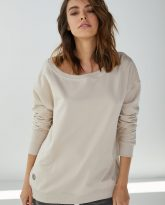 Bluza z dużym dekoltem Sienna piaskowa