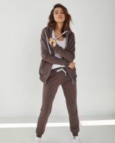 spodnie dresowe Joggers czekoladowe- zdjęcie 3