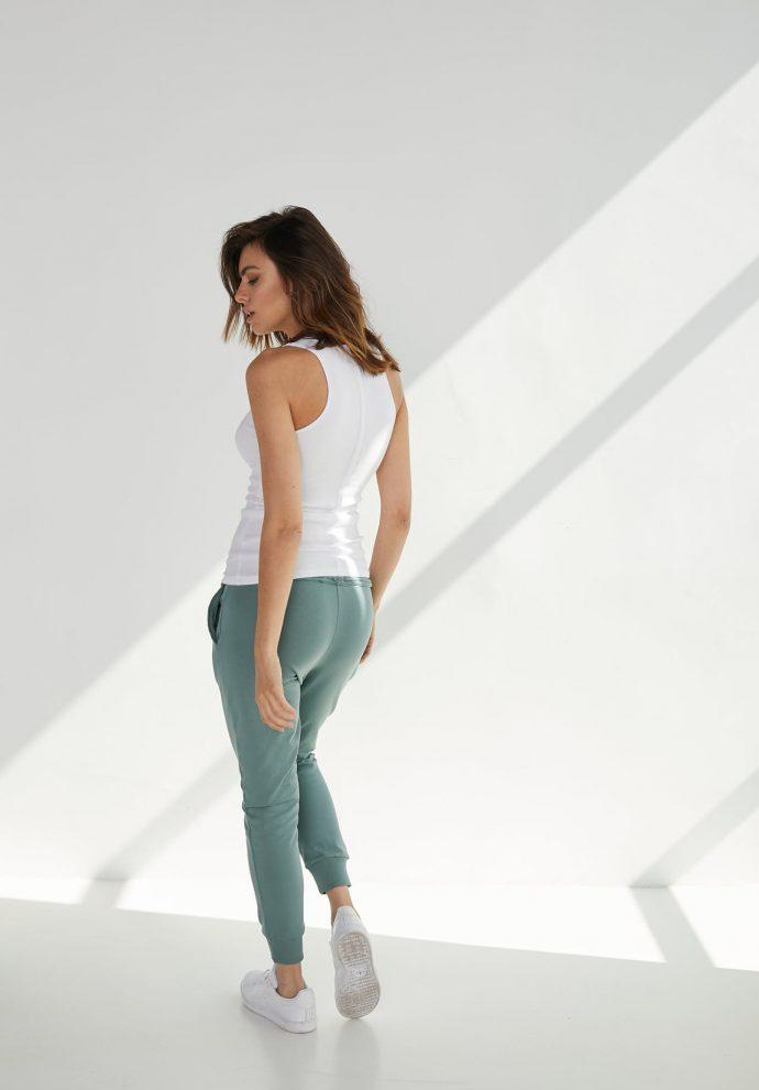 spodni dresowe Baggy zielone- zdjęcie 2