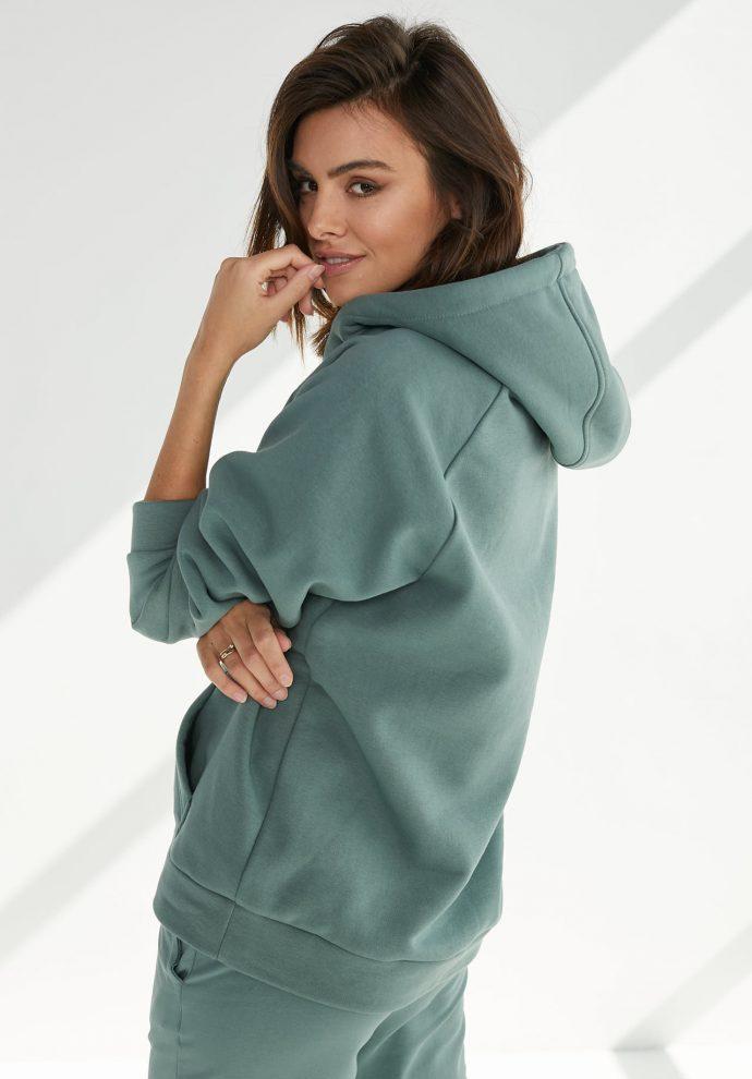 bluza z kapturem Rita zielona- zdjęcie 2