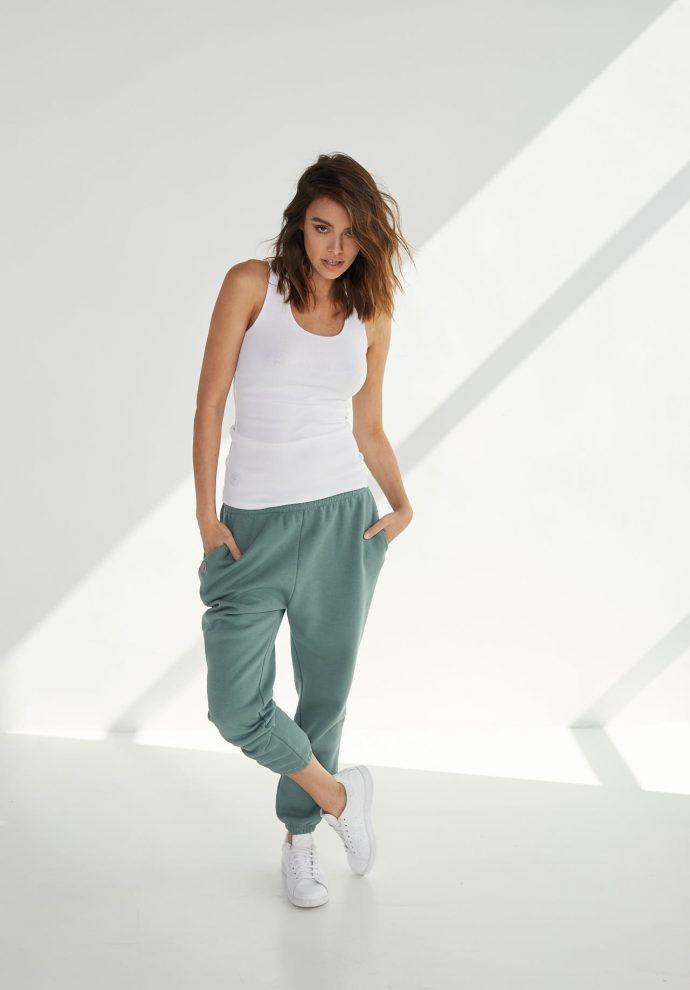 luźne spodnie dresowe lola zielone