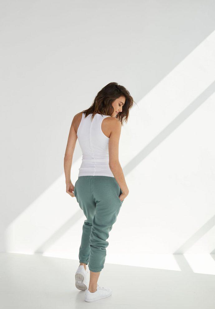 luźne spodnie dresowe lola zielone- zdjęcie 2