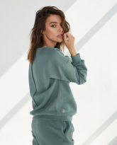 luźna bluza Lola zielona- zdjęcie 2