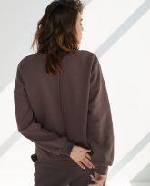 luźna bluza Lola czekoladowa- zdjęcie 2