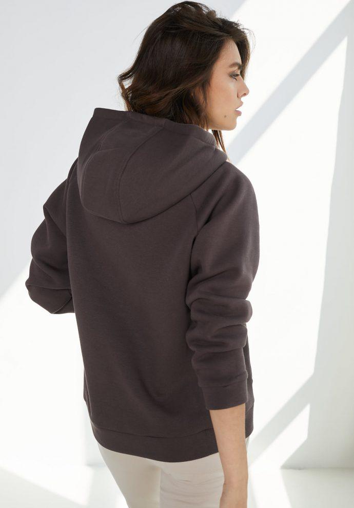 bluza z kapturem Rita czekoladowa- zdjęcie 3