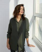Koszula wiskozową Lisa oliwkowa