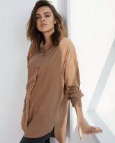 Koszula wiskozową Lisa kamelowa- zdjęcie 2